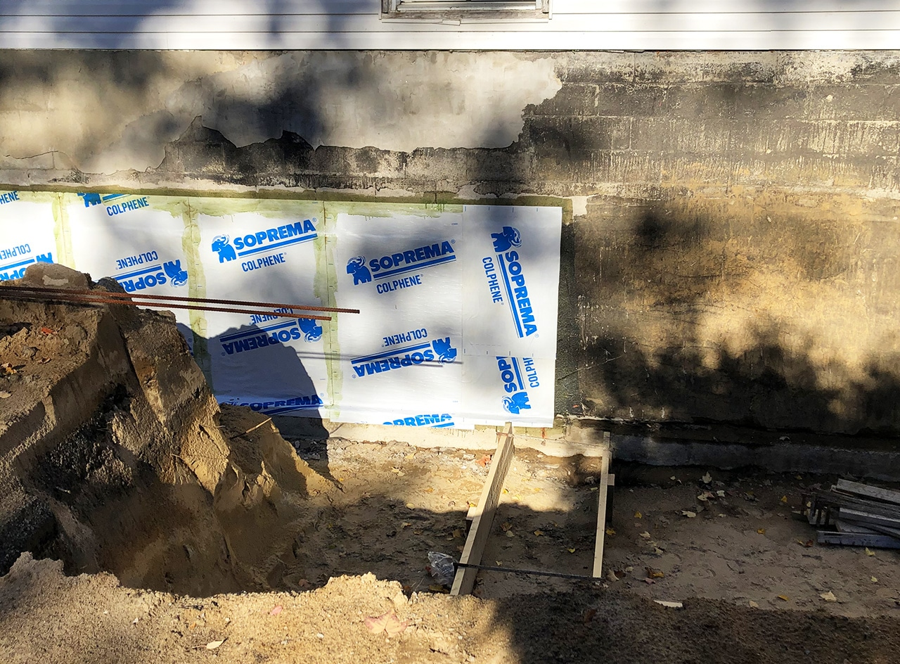 Bissonnette Excavation Pose Membrane